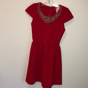 Francescas red dress